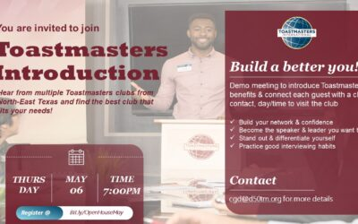 Attend the D50 Toastmasters Multi-Club Open House